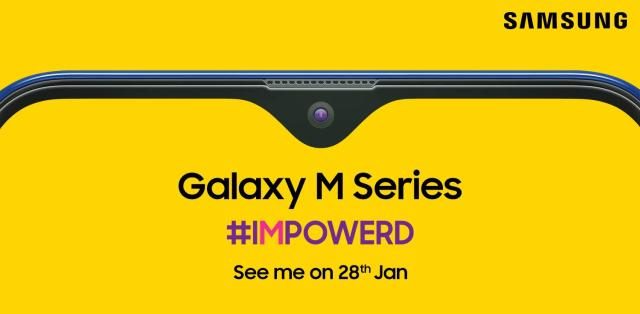 Samsung Galaxy M z ekranem Infinity-V