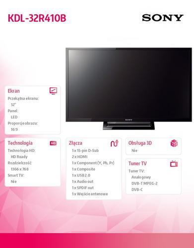 Sony 32'' LED KDL-32R410B