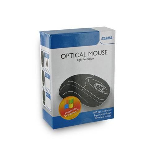 4World Mysz optyczna BASIC3 USB 800dpi czarna