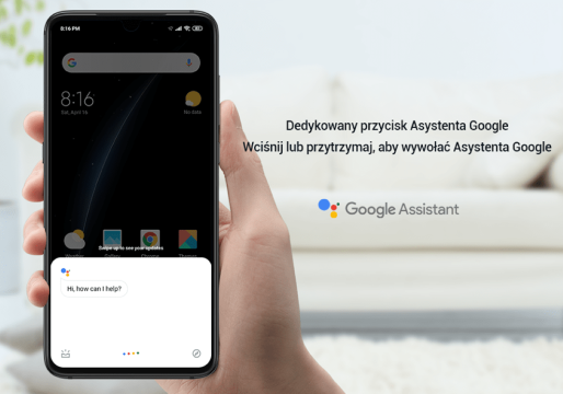 Xiaomi mi 9 posiada dedykowany przycisk dla google assistant