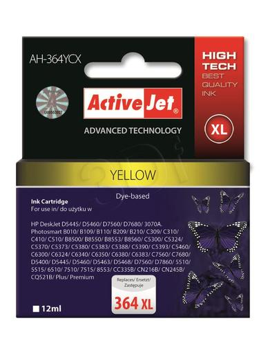ActiveJet AH-364YCX tusz żółty do drukarki HP (zamiennik HP 364XL CB325EE) Premium