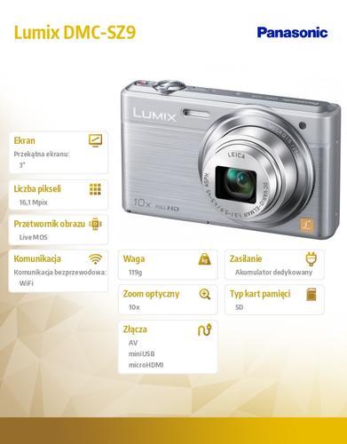 Panasonic Lumix DMC-SZ DMC-SZ9 silver