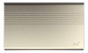 PQI POWER BANK 5000VmAh DUAL-USB 2,4/1,5A, GOLD, ALUMINIOWY