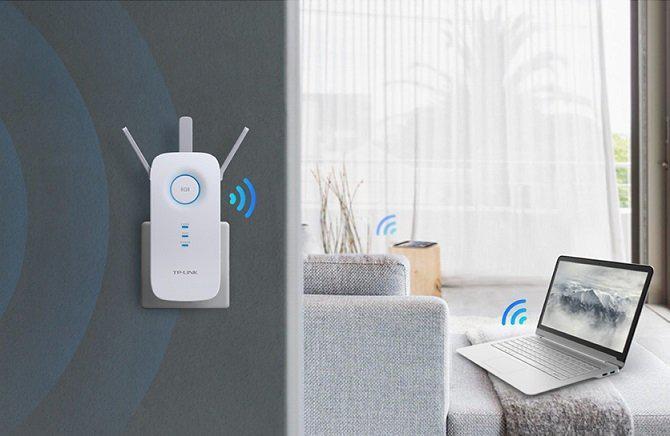Repeater poprawia przepustowość łącza i wzmacnia sygnał wi-fi