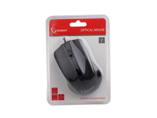 GEMBIRD Mysz OPTO 1-SCROLL USB (MUS-101) Black
