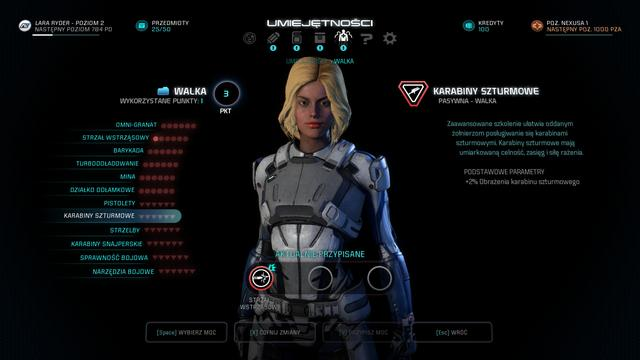 Mass Effect: Andromeda - Drzewo Rozwoju Postaci