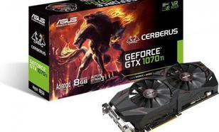 Asus GeForce GTX 1070 Ti Cerberus Advanced Edition 8GB GDDR5 (256 bit) DVI-D, 2xHDMI, 2xDP, BOX (CERBERUS-GTX1070TI-A8G)