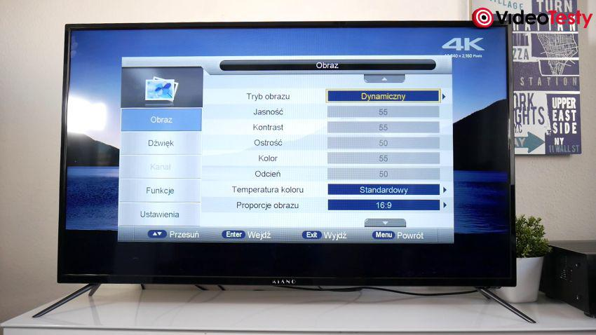 Kiano Slim TV50 ustawienia obrazu