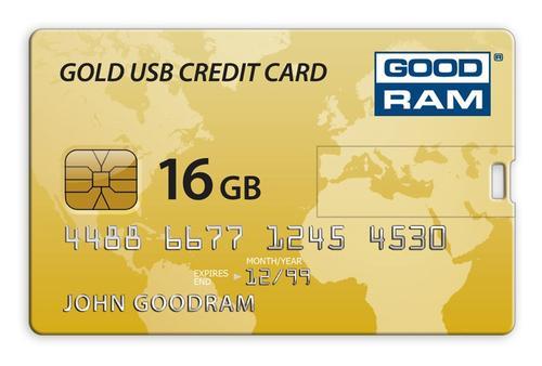 GoodRam Złota Karta Kredytowa 16GB USB 2.0