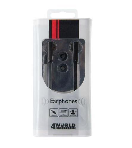 4World Słuchawki MP3 DuoColor Flat | jack 3.5mm | 1.2m | czarno-białe 08481