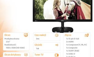 23.8'' 24MT57D-PZ TV IPS 2xHDMI/USB/DVB-T/C