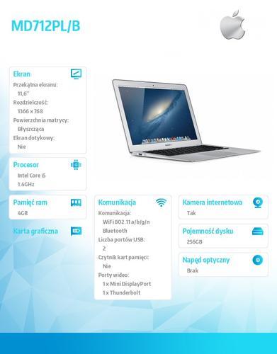 Apple MacBook Air 11.6/1.4GHz i5/4GB/256Flash/MD712PLB