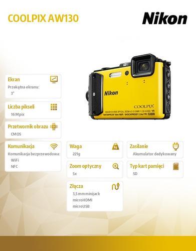 Nikon AW130 yellow
