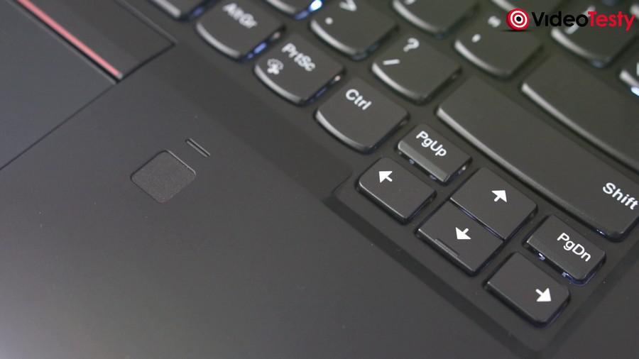 Lenovo X1 Carbon - czytnik linii papilarnych