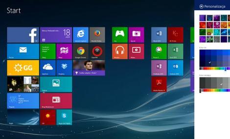 Windows 8 - Personalizacja Interfejsu Metro