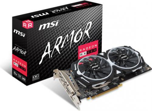 MSI Radeon RX 580 ARMOR 8G OC, 8GB, DL-DVI-D/HDMI*2/DP*2/ATX (RX 580 ARMOR 8G OC)