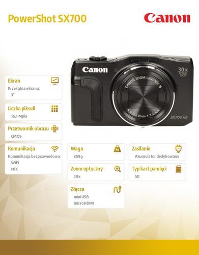 Canon PowerShot SX700 BLK NFC WIFI 9338B011AA
