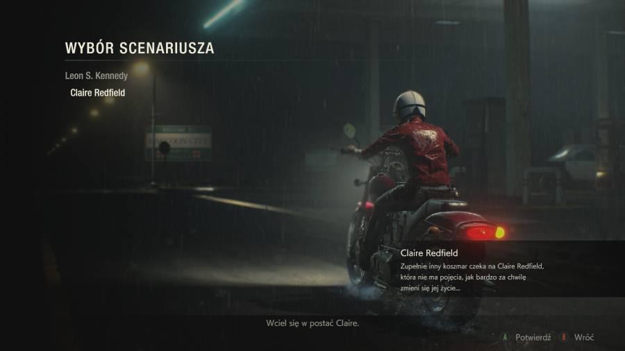 Resident Evil 2 - Wybór bohatera