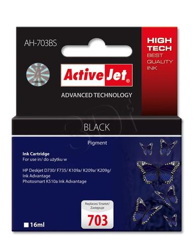 ActiveJet AH-703BS tusz czarny do drukarki HP (zamiennik HP 703 CD887AE) Premium Standard