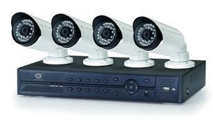 Conceptronic Zestaw CCTV (4 Kamery + Rejestrator 4-kanałowy)(Porty POE)