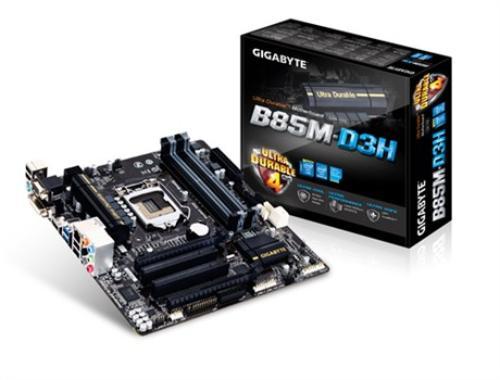 Gigabyte GA-B85M-D3H s1150 B85 4DDR3 USB3/GLAN uATX
