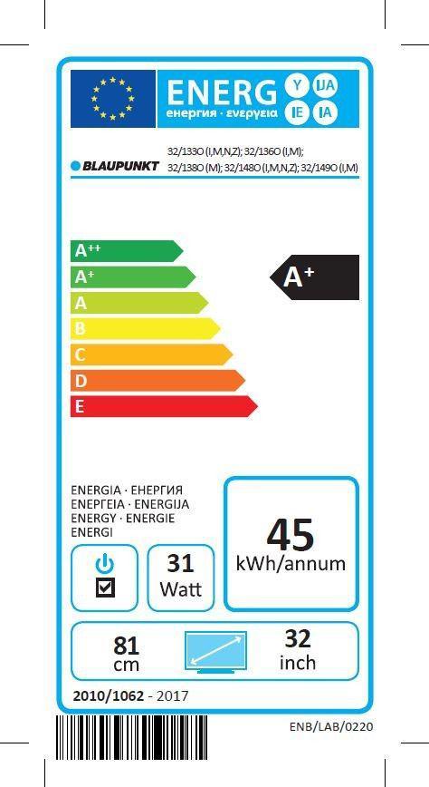 Blaupunkt LED 32 32/133O-WB-11B-EGBP-EU -32/133O-WB-11B-EGBP-EU
