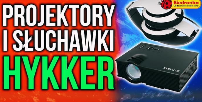 Projektory i Słuchawki Hykker Wrócą do Biedronki 1 Czerwca