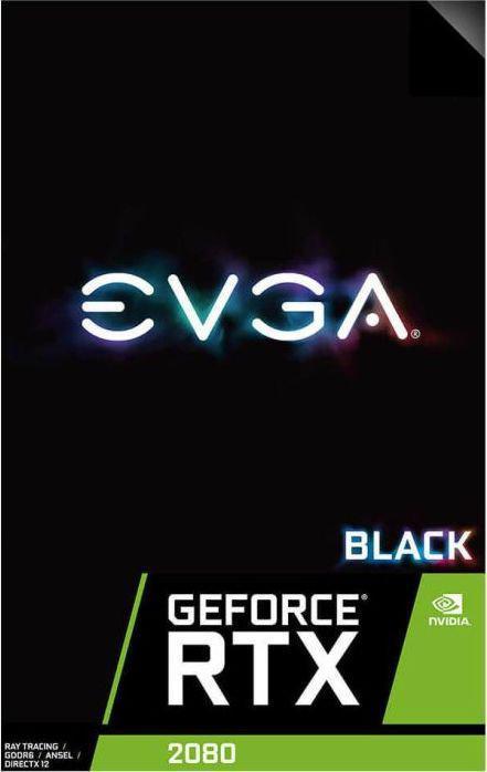EVGA RTX 2080 Black Edition Gaming 8GB GDDR6, 256-bit (08G-P4-2081-KR)