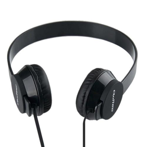 Qoltec Słuchawki nauszne + mikrofon | czarne
