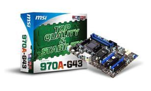 MSI 970A-G43 AMD 970 Socket AM3+ (2xPCX/DZW/GLAN/SATA3/USB3/RAID/DDR3/CROSSFIRE)
