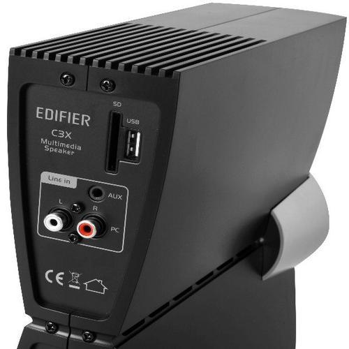 Edifier 2.1 C3X czarne / karta SD / port USB