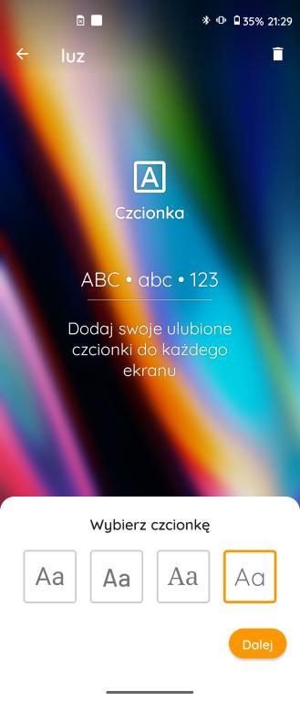 Wybór fontu w My UX