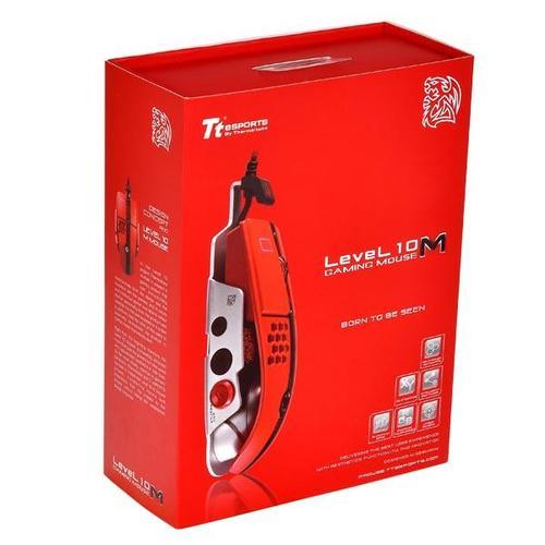 Thermaltake Tt eSPORTS Myszka dla graczy - Level 10 M 8200 DPI Laser Red