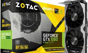 Zotac GeForce GTX 1060 AMP! Edition+ 6GB GDDR5 (192 Bit) DVI-D, HDMI, 3xDP, BOX (ZT-P10600G-10M)