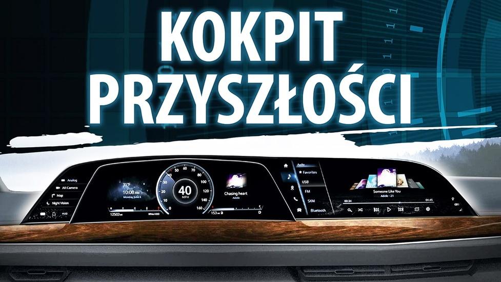 Pierwszy na świecie zakrzywiony wyświetlacz OLED w kokpicie Cadillaca Escalade 2021