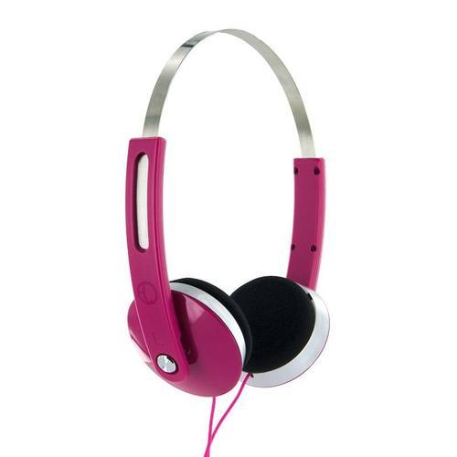 4World Słuchawki stereo nauszne rozowe,Super Bass,COLOR 08251