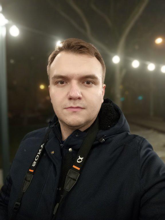 HTC Desire 19+ selfie z rozmyciem