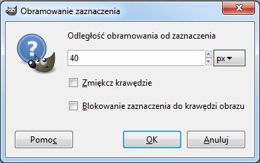 Gimp - Opcje Narzędzia Obramuj