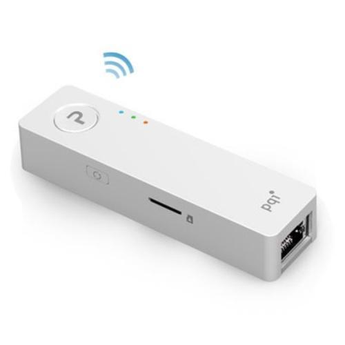 PQI Air Pen A400 WiFi, LAN, USB 2.0, microSDHC Biały