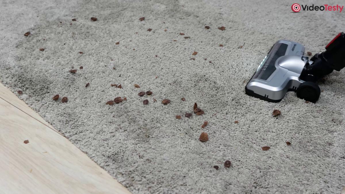 Sharp SA-VP4001BS-EU duży brud na dywanie