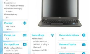 HP ZBook14 i7-4600 W78P 256SSD/8G/14 F0V06EA