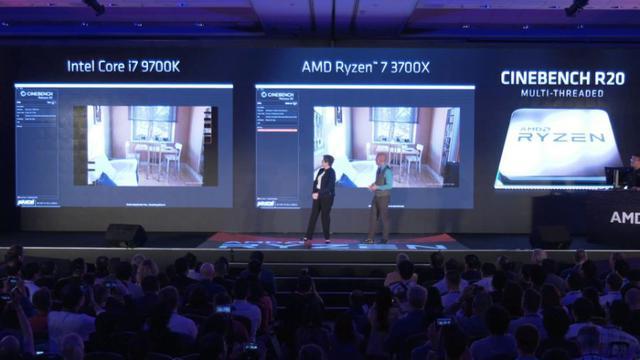 i7-9700K vs Ryzen 7 3700X Cinebench