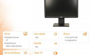 "17"" E1715S LCD TN Anti-Glare/5:4/1280x1024/VGA/DP/3Y MR"