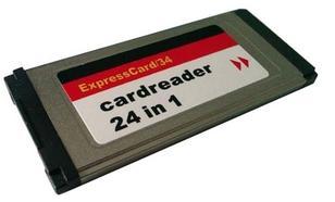 4World ExpressCard czytnik kart pamięci 24w1