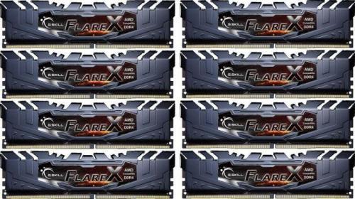 G.Skill Flare X DDR4, 8x16GB, 2400MHz, CL15 (F4-2400C15Q2-128GFX)