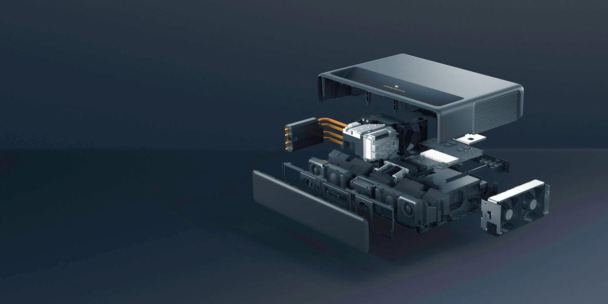 Wnętrze projektora laserowego Xiaomi za 10000 złotych