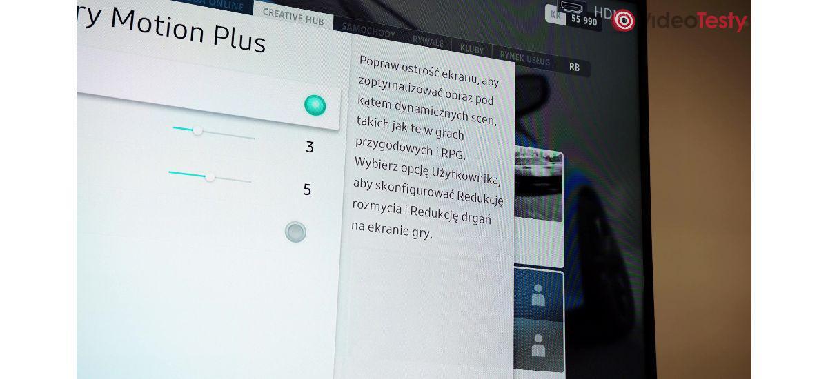 Samsung Motion Plus - technologia upłynniania obrazu
