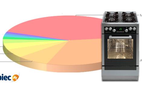 Ranking kuchenek gazowych i elektrycznych - kwiecień 2012