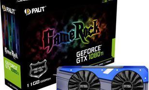 Palit GeForce GTX 1080 Ti GameRock Premium 11GB GDDR5X (352 bit), DVI-D, HDMI, 3xDisplayPort, BOX (NEB108TH15LCG)