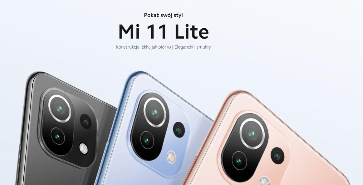 Trzy kolory Xiaomi Mi 11 Lite 6+128GB